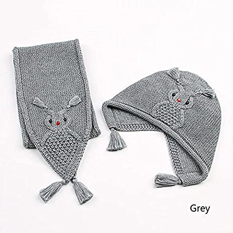 HTTMYY Child Baby Autumn And Winter Hat Cap Scarf Gloves
