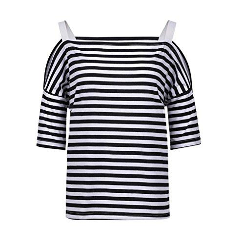 ue Damen Rundhals Falten T-Shirt Beliebt Ärmellos Stretch Tunika Top(XL,Schwarz) (Laura Neues Kostüm)
