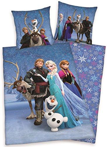 """Bettwäsche Disney Frozen EISKÖNIGIN """"DREAMTEAM DELUXE"""" 135 x 200 cm - 100% Baumwolle"""