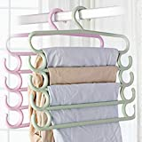 Ascension ® Multifunctional Five Layers Plastic Hangers Storage Trousers Rack Clothes Hanger