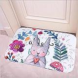 Rosepoem Ostern Häschen-Kaninchen-Teppich Rutschfest Fußabtreter Badematte Mat Teppich Feiertags-Dekoration
