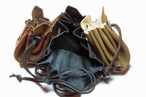 Mittelalterlicher Lederbeutel aus hochwertigem Rinds-Nappaleder Farbe: braun