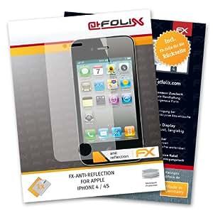 atFoliX FX-Antireflex Protection d'écran avec face avant et dos pour Apple iPhone 4/4S