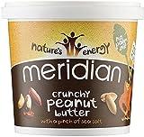 Meridian natürliche crunchy Erdnussbutter - ohne Zuckerzusatz - 1kg