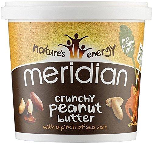 Meridian natürliche crunchy Erdnussbutter - ohne Zuckerzusatz - 1kg (mit einer Prise Meersalz)