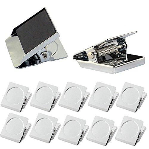 Magnetische Clips, kereda 12PCS quadratisch Kühlschrank Magnetische Haken Clips, Kühlschrank Magnete Kühlschrank Magnet Magnete Büromagnete Foto Magnete mit Neodym-Magnet für Haus & Büro