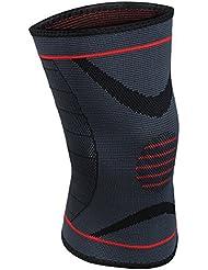 Rodillera de compresión de OMorc para Levantar pesas, Correr, Sentadillas profundas, Deportes, prevención de lesiones de rodilla, alivio del dolor común, la artritis y la recuperación de lesions(Abrigo Sola)-M