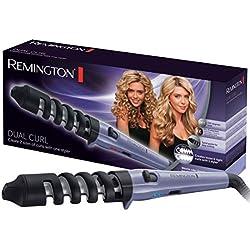 Remington CI63E1 Fer à Boucler, Boucleur 19 et 31 mm Dual Curl, Antistatique, Céramique, Toumaline, Ionique, Glisse Facile, Design Unique