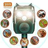 CAMTOA CAMTOA Tiervertreiber, Solar Katzenschreck, Ultraschall Abwehr-Wasserdicht, mit Batteriebetrieben und Blitz, 4 In 1 Upgrade Automatischer, Marderschreck, Abwehrmittel für Garten