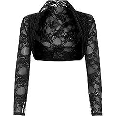 Womens Cropped Lace Shrug Ladies Bolero Plus Size Cardigan To . 95fb406ab