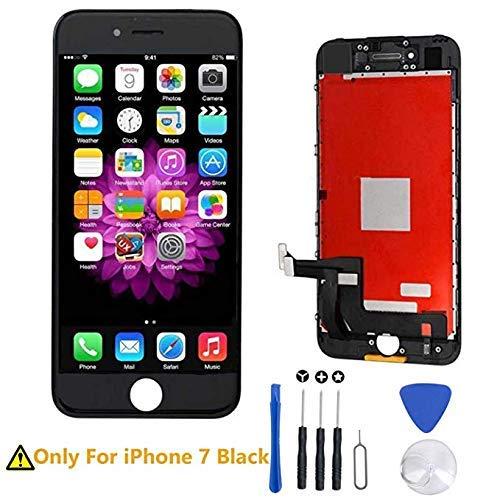 euskDE LCD Touchscreen Für iPhone 7 Display Ersatz Bildschirm Front Komplettes Glas mit Werkzeuge Für iPhone 7 4.7 (Schwarz) - Display