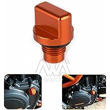Nawenson arancione alluminio CNC motore magnetico tappo di scarico magnetico dado dell' olio KTM Duke 390(13–15), 125/200KTM RC 3902014–2015, 125/200