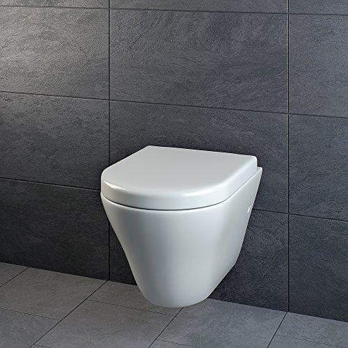 Design Wand Hänge WC ohne Spülrand Spülrandlos Toilette Sitz Softclose hängend 5 - 4