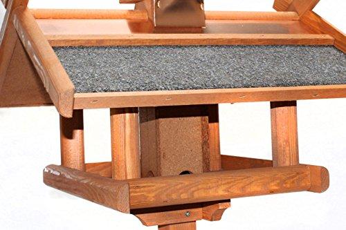 Vogelhaus mit Ständer Kupferdach Futtersilo 155cm - 4