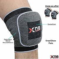 Xn8 smsbm apoyo Protector de la rodilla coderas MMA protectores de brazo Muay Thai Gym-3734 Black with Grey lining Talla:mediano