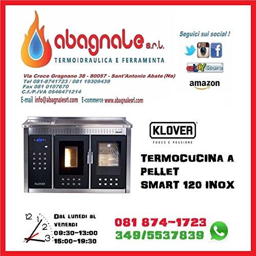 103c7dd235a KLOVER CUCINA TERMOCUCINA A PELLET SMART 120 INOX RISCALDAMENTO IMPIANTO  PRODUZIONE ACQUA SANITARIA
