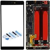 Full LCD Displayeinheit Display mit Rahmen Rahmen Komplett Einheit Schwarz für Huawei Ascend P8 + Tool Reparatur