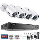 1080P Überwachungskamera System 4 x 1080P Wetterfest HD-Kamera Außen und ANNKE 4CH DVR