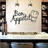 Wuyyii Bon Appetit Food Wall Stickers Per La Decorazione Della Stanza Della Cucina Smontabile Vinyl Home Decor Decals Art Poster WallpaperA