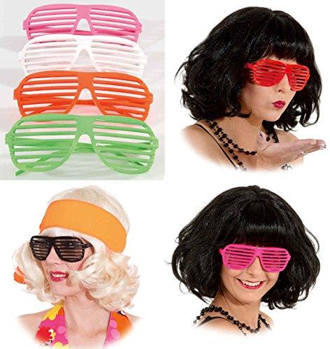 Preisvergleich Produktbild Jalousie Brille Party zum Kostüm Karneval Fasching Party pink