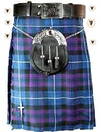 Pride of Scotland 5 m 10 g Motif Tartan écossais traditionnel Highland Chaussettes de Kilt pour homme