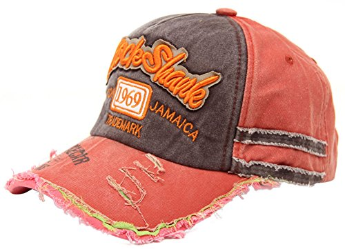 49e5e005b60dc0 MINAKOLIFE Distressed Vintage Cotton Washed Baseball Cap Snapback Trucker  Hat (Orange) - Buy Online in Oman. | Apparel Products in Oman - See Prices,  ...