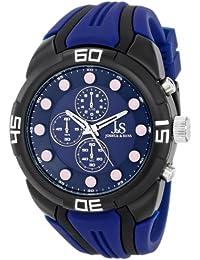 Joshua & Sons JS61BU - Reloj de cuarzo para hombres, color azul oscuro