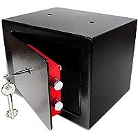 Schramm® Caja Fuerte Caja Fuerte con Cerradura Mini Caja Fuerte Mini Caja Fuerte de Pared Caja Fuerte para Muebles Caja Fuerte de Pared con Llave Negro