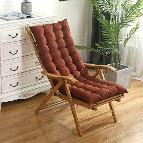 AINIYUE Sitzkissen für zu Hause, solid Soft Garden Sonnenliege Matte, verdickte Faltbare Schaukelmatte, für Lange Stuhl Couch Pads 40 * 110cm Kaffee