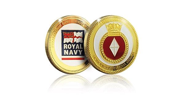 HMS Diamond The Koin Club Royal Navy Memorabilia Gifts Collection Collectable Gold Spoof Coin Medal