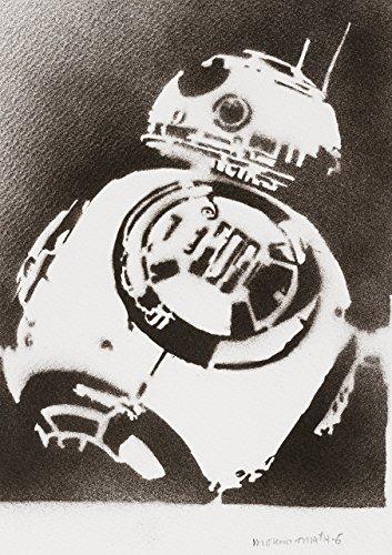 BB-8 Droid STAR WARS Poster Plakat Handmade Graffiti Street Art - Artwork