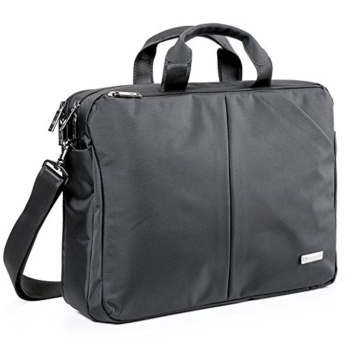Laptop Borsa Messaggero, Evecase Impermeabile Custodia Messenger per Computer, PC, Notebook, Computer Portatile, Ultrabook, Chromebook fino alle 15.6 Pollici - Nero