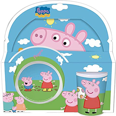 Peppa Pig 3 Piece Melamine Dinnerware Set