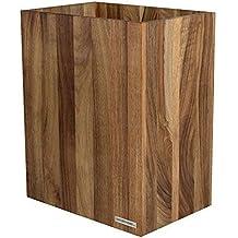 Bad und Wohnzimmer aus Eichen-Holz Natur ge/ölt I verarbeitet aus hochwertige Materialien im zeitloses Design NATUREHOME Papierkorb CLASSIC aus Holz ohne Deckel I Papiereimer oder M/ülleimer f/ür B/üro
