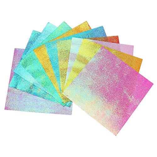 SUPVOX 50 stücke Glitter Origami Papier Glitter Quadrat Papier Farbe Papier Lebendige Farben Blätter Papierkräne Gefaltet Gefaltet Papier Origami Blätter