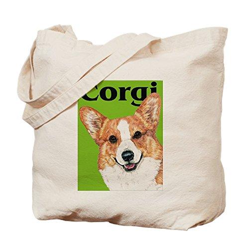 CafePress–Pembroke Welsh Corgi grün Pop Art–Leinwand Natur Tasche, Reinigungstuch Einkaufstasche, canvas, khaki, S