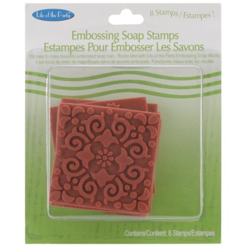 Life Of The Party Soap Embossing Stamp Assortment 8/Pkg-Square, Other, Multicoloured
