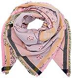 CODELLO Damen Schal 72095809, Rosa (Light Pink 10), One size (Herstellergröße: 140X140 cm)