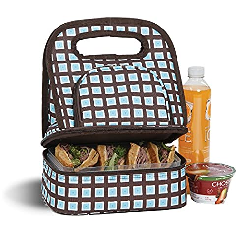 Savoy Lunch Bag - Tote With Storage Container - Blue Oyster by Picnic Plus