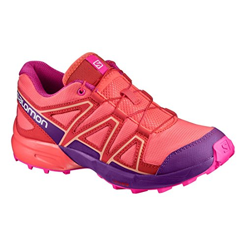 Salomon Speedcross J Living Coral Acai Rose Violet Orange