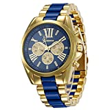 #10: CLWD Geneva Men's collection Stainless steel strap Blue color dial Mens watch (WCH-72 )