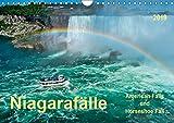 Niagarafälle - American Falls und Horseshoe Fall (Wandkalender 2019 DIN A4 quer): Die Niagarafälle - imposante Wasserfälle mit gebremster Kraft. (Monatskalender, 14 Seiten ) (CALVENDO Natur)