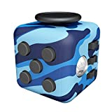 Amteker Fidget Cube Toy Anxiety Attention Stress Relief, and Break Nervous Habits for Children and Adults (Camo Blue)