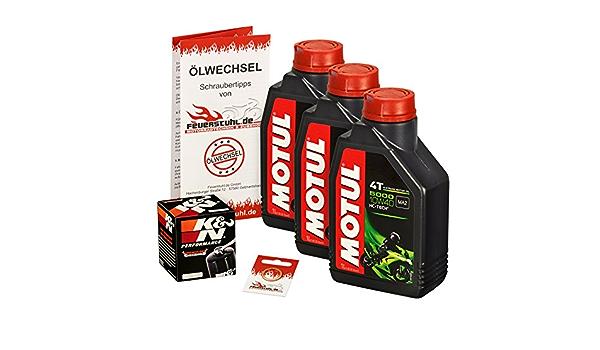 Motul 10w 40 Öl K N Ölfilter Für Honda Xrv 750 Africa Twin 90 03 Rd04 Rd07 Ölwechselset Inkl Motoröl Filter Dichtring Auto