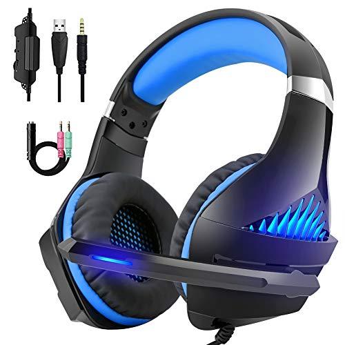 DeepDream Gaming Headset für PS4 Xbox One, PC,Professional Headset mit Mikrofon Stereo Sound Noise Isolation und Lautstärkeregler für PC Laptop Mac Smartphone