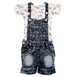 #1: Indian Evergreen Denim Washed Jeans Denim dunagree dangri dungri Western Wear Design for Baby Girls