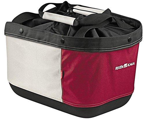 KlickFix Alingo Gt für Racktime Gepäckträgertasche, Rot/Creme, 41 x 29 x 24 cm