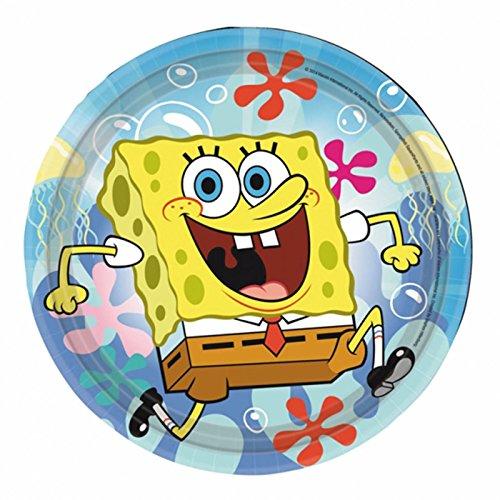 18cm Sponge Bob Papier Teller ()