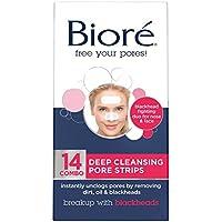 Limpieza profunda de poros, de Biore, 14 tiras para rostro y nariz