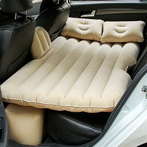 Sinbide Auto SUV Auto Luftmatratze aufblasbare Matratze Auto Matratze mit Pumpe Luftbett Bewegliche Dickere Luftbett Auto Matratze für Reisen Camping Outdoor (Beige)